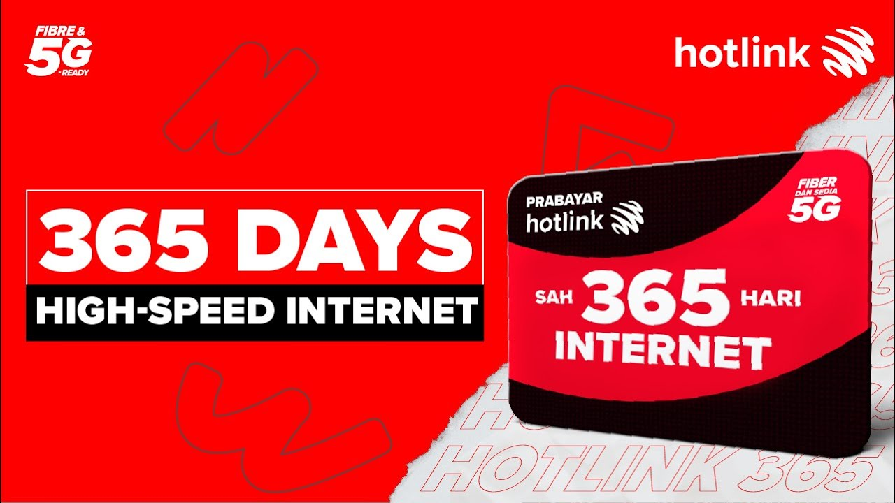 Download #BikinSampaiJadi with the All-New Hotlink Prepaid Internet 365