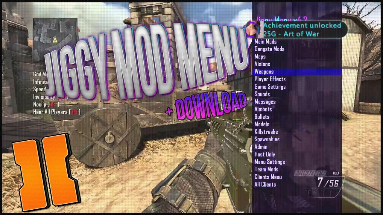 Black Ops 2: Jiggy GSC Mod Menu v4 2 +FREE Download (PS3/XBOX360)