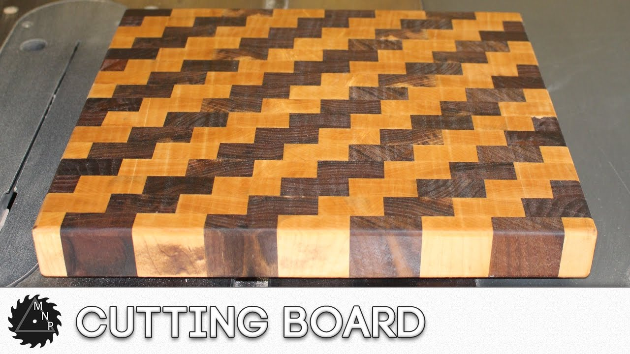 End Grain Cutting Board (With cool Pattern) - YouTube