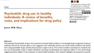 Psychedelic drug use in healthy individuals, Drug Science, Policy and Law 2017