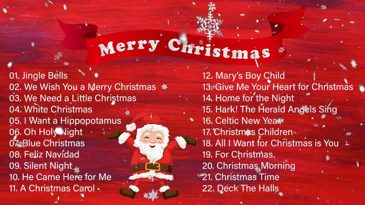 Top Christmas Songs Classic Christmas Hits Christmas Music Playlist Youtube