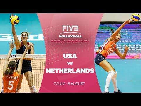 USA v Netherlands highlights - FIVB World Grand Prix