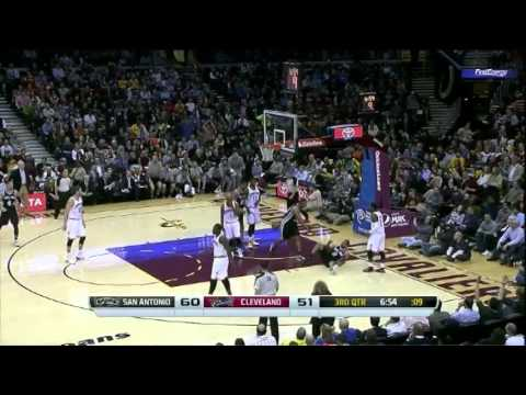 Danny Green 24 Points Full Highlights Spurs vs Cavaliers (3.4.2014)