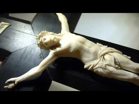 Antique French Dieppe Ivory Crucifix