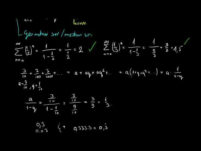 Geometriai/mértani sor összegképlete