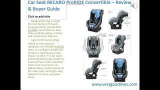 Car Seat RECARO ProRIDE Convertible Review Buyer Guide