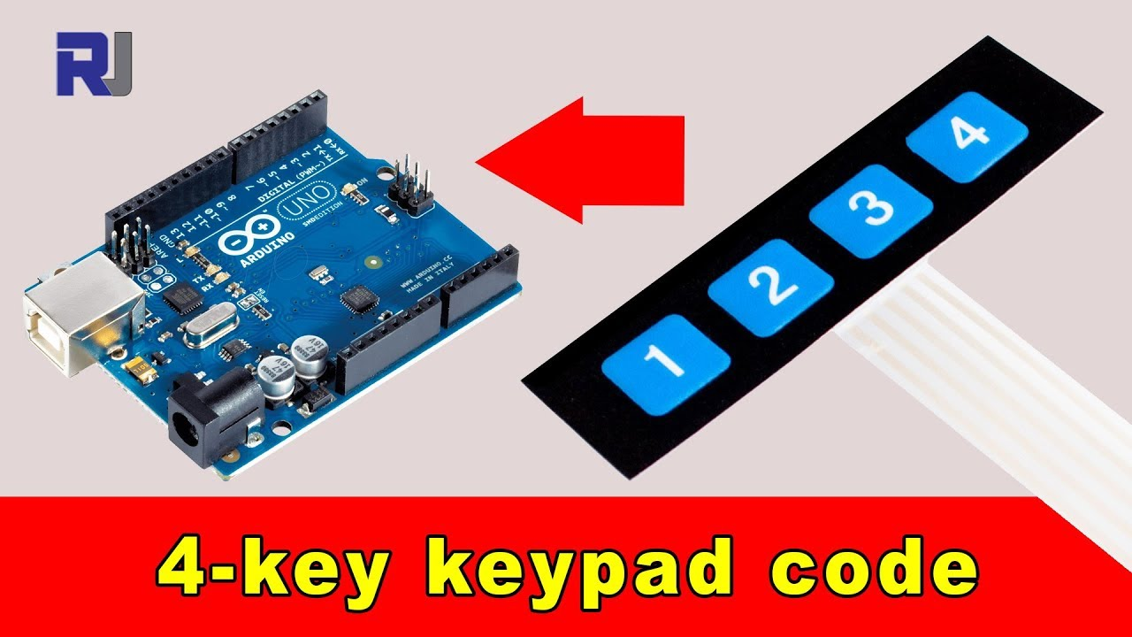 how to use 4x1 push button keypad in arduino [ 1280 x 720 Pixel ]