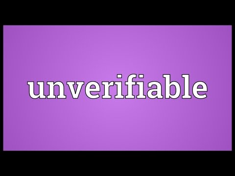Header of unverifiable