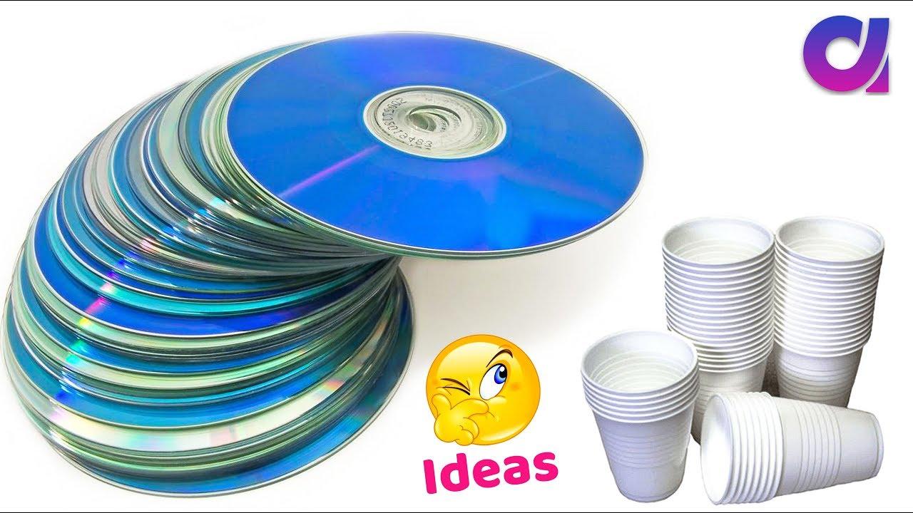 Best use of waste disposal tea Glass & CD  DIY Home Decor  Artkala 24.