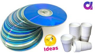 Best use of waste disposal tea Glass & CD | DIY Home Decor | Artkala 398.