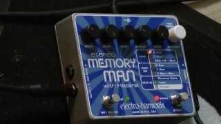 audio test #13 - Electro Harmonix - stereo MEMORY MAN with Hazarai - Massimo Varini