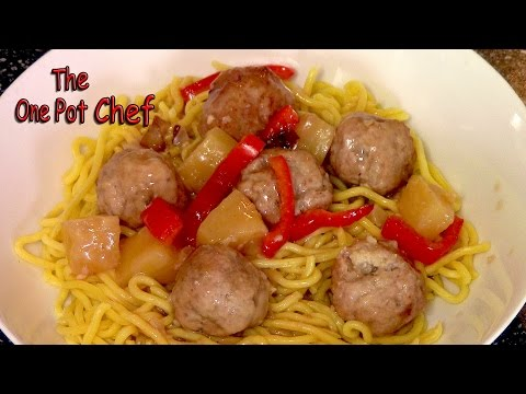 Sweet And Sour Meatballs | One Pot Chef