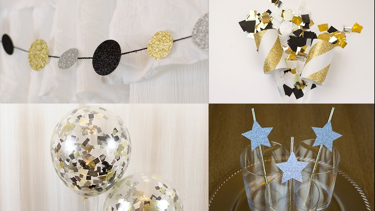 DIY New Year's Eve Decorations - Banner, Confetti Poppers ...