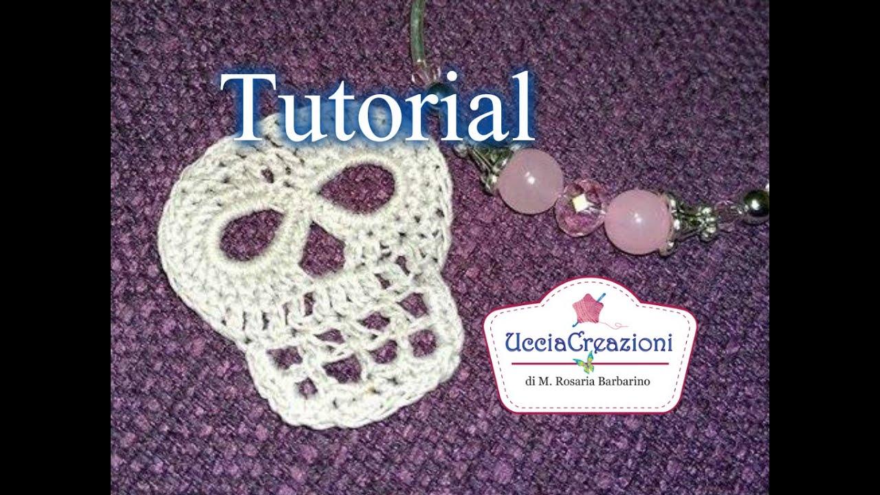 Tutorial 17 Teschio Alluncinetto Halloween How To Crochet