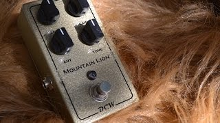dcw pedals mountain lion overdrive full demo with sean gibson of the noise reel