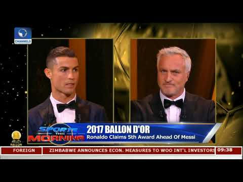 Ronaldo Claims 5th Ballon D'or Award Ahead Of Messi |Sports This Morning|