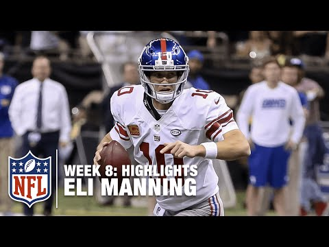 Eli Manning Highlights (Week 8) | Giants vs. Saints | NFL