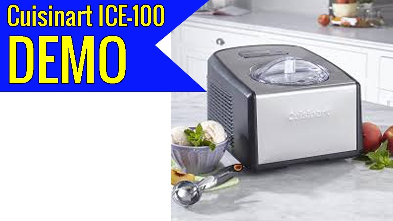 Cuisinart Ice 100 Compressor Ice Cream And Gelato Maker Review Youtube