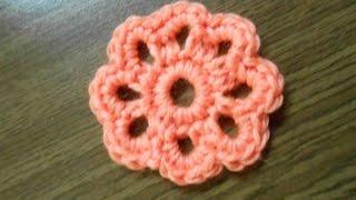 Вязание цветов крючком для начинающих. Видео урок