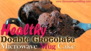 Healthy Double Chocolate Microwave Mug Cake