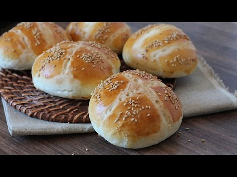 Recette de pains pour hamburger (sans lait) / burger bread recipe /خبز البرجر بدون حليب