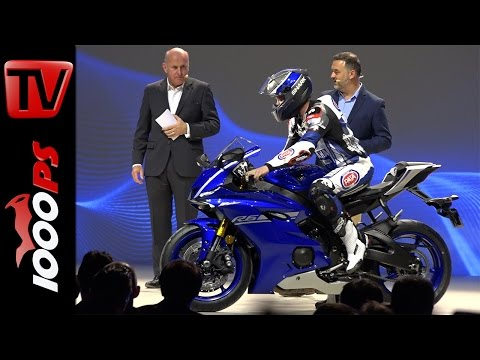 Yamaha Weltpremiere 2017 mit Valentino Rossi | R6, WR450F, T7 Concept, XSR 900 Abarth, T-Max