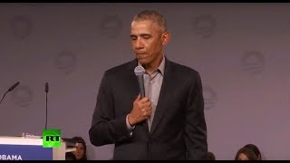 Barack Obama speaks to young European leaders
