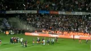 Montpellier Lille 2012 but AIT FANA live et ambiance apres match