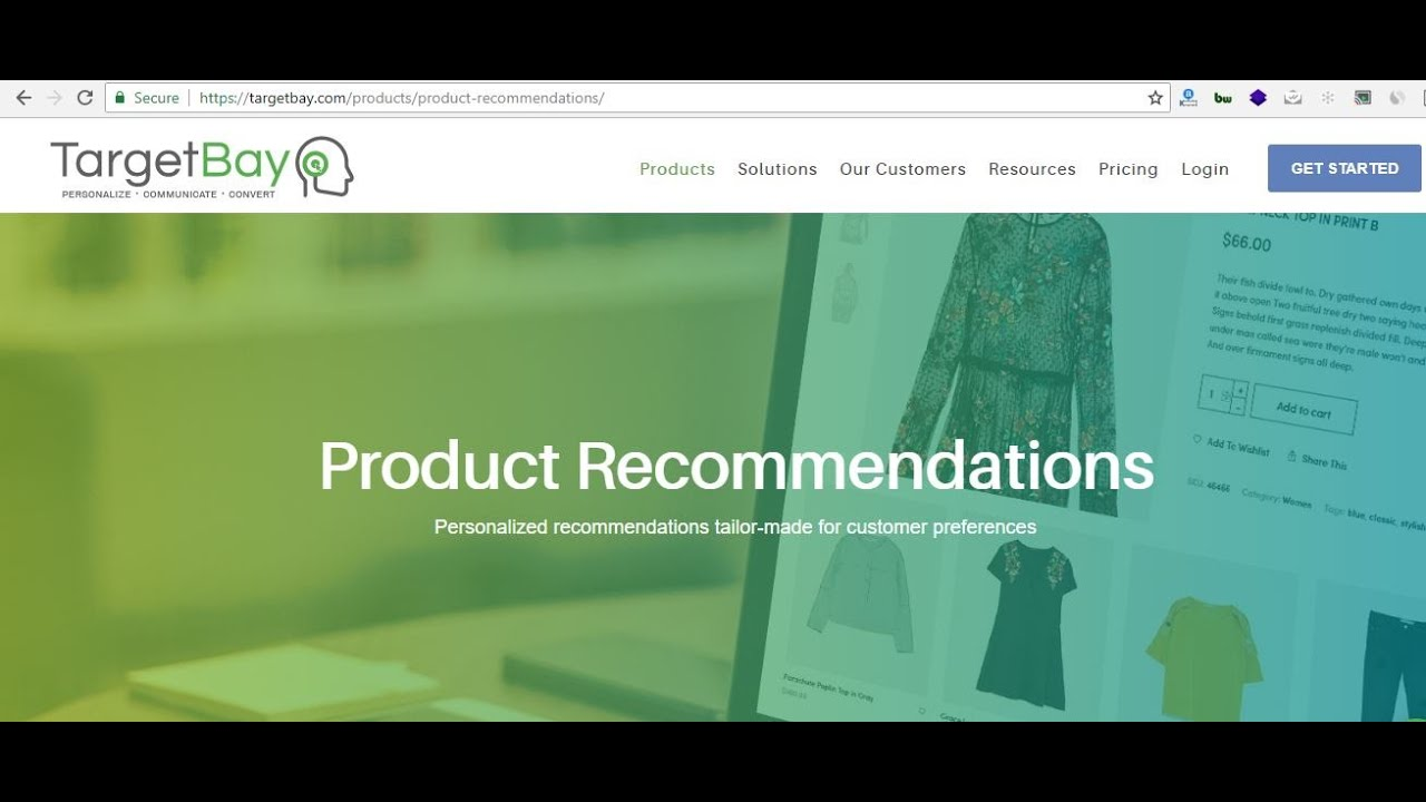 TargetBay Product Recommendations