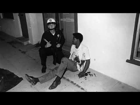 Watts riot in 1965 in Los Angeles left 34 people dead