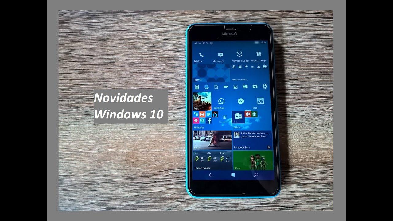 Novidades da build 10581 do windows 10 mobile no lumia 640 for Window 640 xl