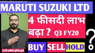 WHAT SHOULD INVESTORS DO WITH  MARUTI SUZUKI STOCK POST Q3 | CURRENT NEWS