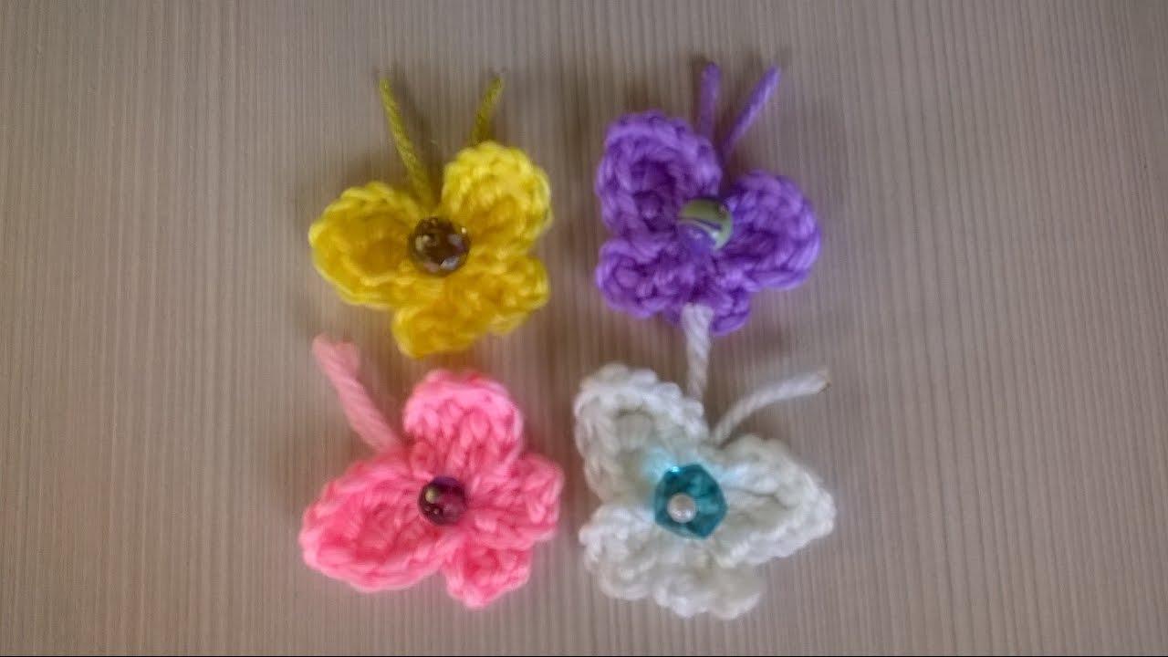 Amigurumi Butterfly Tutorial : Farfalla Uncinetto -Amigurumi Tutorial- Butterfly Crochet ...