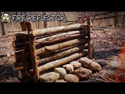 Making a Bushcraft Camp: Fire Reflector, Fire Pit, Cooking Tripod (Part 7)