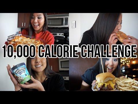 10,000 CALORIE CHALLENGE | GIRL VS.  FOOD