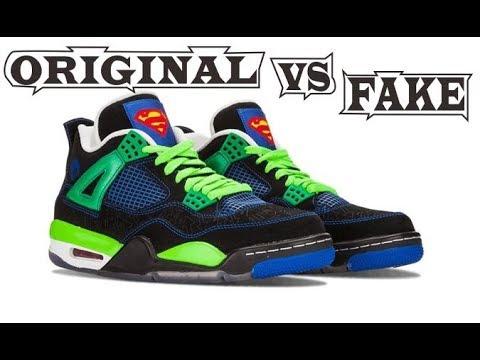 22d6890ab3a8 Nike Air Jordan Retro 4 Doernbecher Superman Original   Fake - YouTube