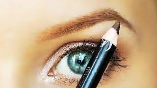 Уроки макияжа. Коррекция бровей с помощью косметики. Как красить брови. Красивые брови