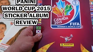 Panini Women's World Cup Canada 2015 Stickers Album Review