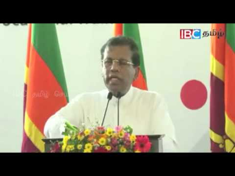 President says Sinhalese can live happily only if they solve Tamil problem