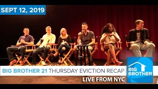 Big Brother 21 Thursday Night Sept 12 Eviction Recap | Kaitlyn Herman LIVE FROM NYC #BB21