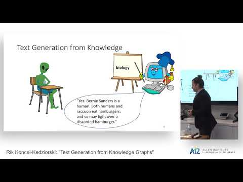 "Rik Koncel-Kedziorski: ""Text Generation from Knowledge Graphs"""