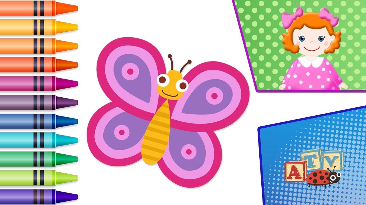Joc De Colorat Pentru Copii Mici Desene Animate Coloram Cu Lea Buburuza Fluture Melc