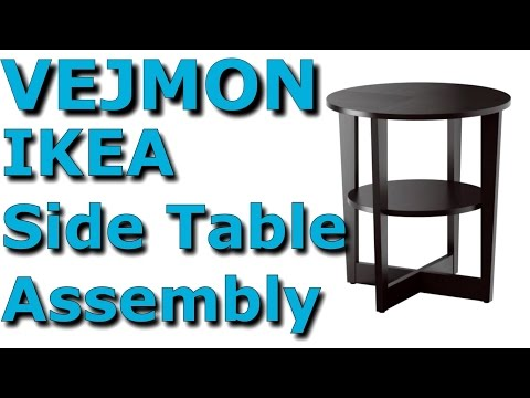 VEJMON Coffee table - black-brown - IKEA Complete Assembly 4