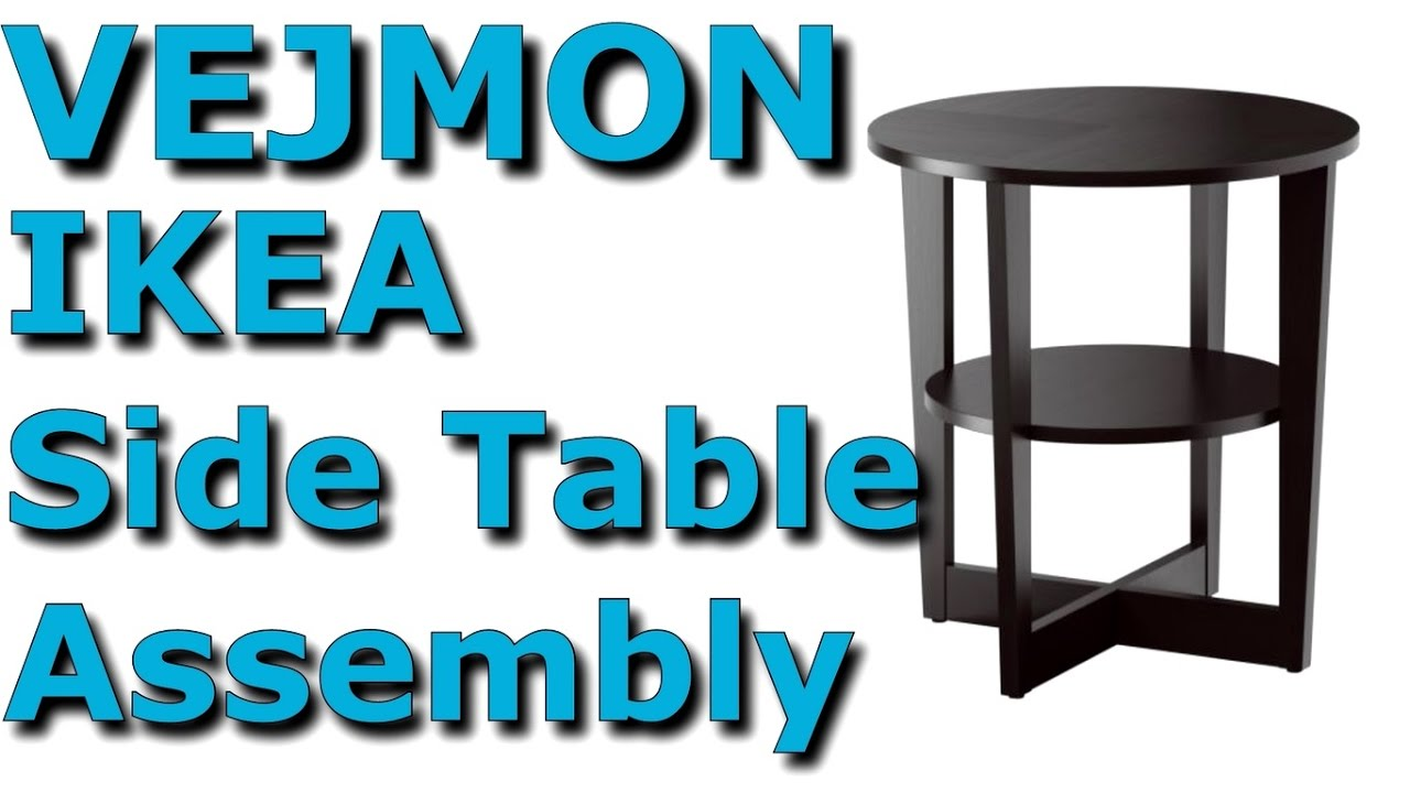 Vejmon Coffee Table Black Brown Ikea Complete Assembly 401 366 81