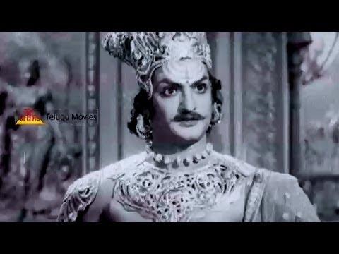 Ravana Brahma Angry On Lord Vishnu - NTR Outatanding Performance In Bhoo Kailas