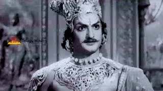 Ravana Brahma Angry On Lord Vishnu - NTR Outatanding Performance In Bhoo Kailas