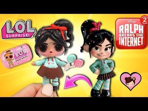 DIY Custom LOL Surprise Doll Vanellope - Ralph Breaks the Internet Movie
