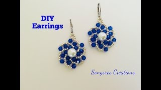 Easy to make beaded Earrings.Begginers project