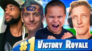 FaZe Tfue Ninja AND Daequan TURN MY LITTLE BROTHER INTO A GOD! FORTNITE BATTLE ROYALE! [MUST WATCH]