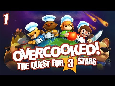 Overcooked: the Quest for 3 Stars - #1 -  Burritos in Space! (Co-op Overcooked Gameplay)